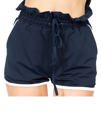 Ruffle Belt Shorts Front